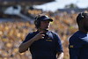 WVU Football went head to head against Kansas on October 6th, 2018 at Milan Puskar Stadium. The game ended with a win for WVU, 38-22. Fans participated in the WVU Gold Rush event being held during this game, resulting in a crowd of golden people