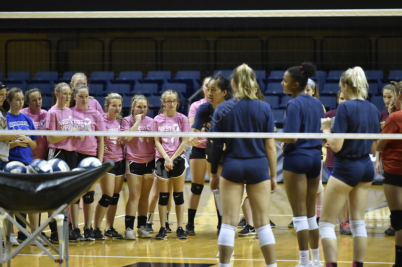The WVU Volleyball team faced off against the Baylor Bears at the Coliseum on October 13, 2018. The Mountaineers lost 3 sets to 2.