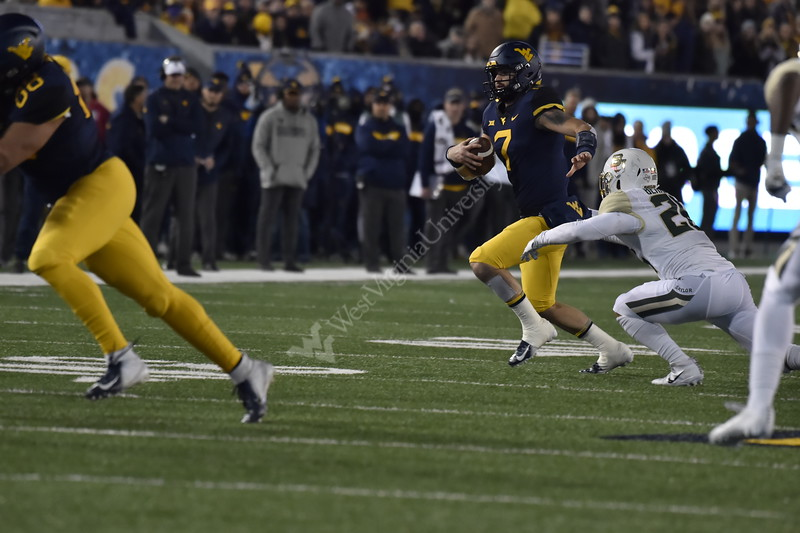 WVU Football faced off against the Baylor Bears in Morgantown on October 25, 2018. The Mountaineers won the game in a dominant performance 58-14.