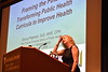 University of Southern Florida Dean of Public Health Donna Peterson presents to faculty and staff of the School of Public Health at the Dean's Colloquium in Okey Patteson Auditorium September 7th, 2018.  Photo Brian Persinger