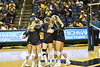The Mountaineer Vollleyball team faced off against Morehead State in the Coliseum on September 14, 2018. After falling behind by two sets, the Mountaineers came back and won the following three sets to win the match.