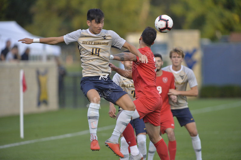 The Men's Soccer team faced off against Saint Francis on Septembe 15, 2018 at Dick Dlesk Stadium in Morgantown, WV. The Mountaineers beat Saint Francis 3-1.