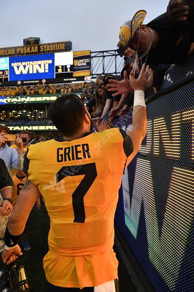 34928 Wil Grie football action K State September 22, 2018. Photo Greg Ellis