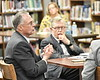 WVU President E Gordon Gee, WV government leaders, members of the Van School Board  and Van students take part in the P-220 roll out Van Jr. Sr High School Van WV September 19, 2018. Photo Greg Ellis