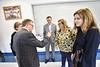 WVU President E Gordon Gee, WV government leaders, members of the Van School Board  and Van students take part in the P-220 roll out Van Jr. Sr High School Van WV September 19, 2018. Photo Greg Ellis