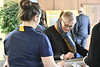 WVU leadership, faculty, students, staff and the WVU community celebrate research at the WVU Mountain Lair with ice cream and conversation, April 5, 2019. Photo Greg Ellis