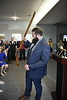 Trevor Kiess, Outgoing Mountaineer hands off the rifl to  Timothy Eads, Incoming Mountaineer at the Erickson Alumni Center April 11, 2019. Photo Greg Ellis