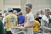 The Greek Day of Service event was held at the Rec Center on Saturday April 13, 2019. These students helped pack food for people in need.