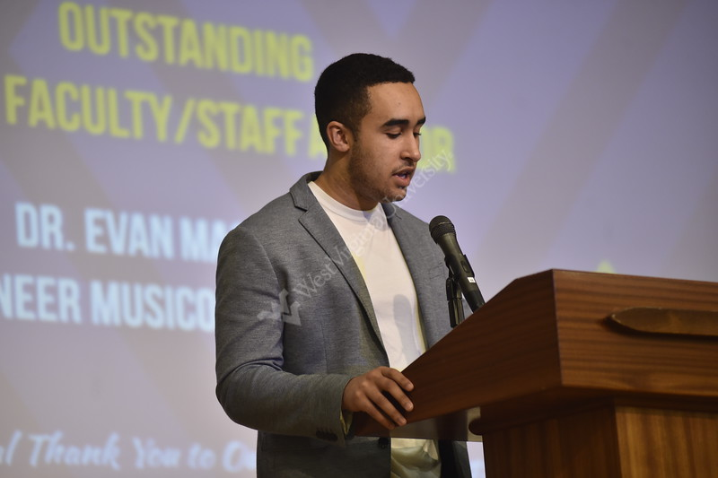 Students and student organizations are awarded for their achievements of this academic year. The event was held in the Mountainlair Ballrooms on April 16, 2019.