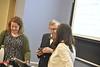 President Gordon Gee, CPASS Dean Dana Brooks and Jack Watson surprise Dana Voelker in class with an Outstanding Teacher Award March 17th, 2019.  Photo Brian Persinger