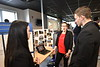 WVU College of Business and Economics students, faculty, and staff take part in WVU Demo Days at the Brick Street Innovation Center University Place April 25, 2019. Photo Greg Ellis
