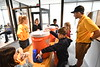 Elementary students sell lemonade to WVU students, facility and staff to show off their entrepreneurship skills at the College of B&E April 25, 2019. Photo Greg Ellis