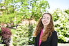 Boren Scholar Laura Curry poses for photographs on the downtown campus April 29th, 2019.  Photo Brian Persinger