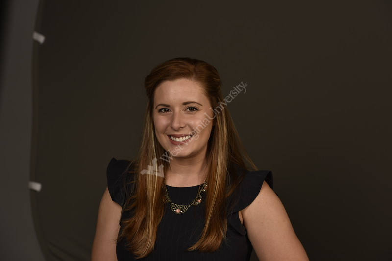 Kristin Grogg  COMMUNICATIONS SPECIALIST WVU Honors College poses for a portrait at the One Waterfront studio August 14, 2019. Photo Greg Ellis