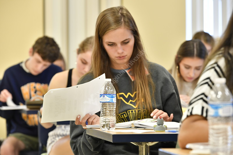 WVU student Mind Fit Tutors take part in training for the upcoming academic year to improve the quality of their services for the WVU student population August 19,2019. Photo Greg Ellis