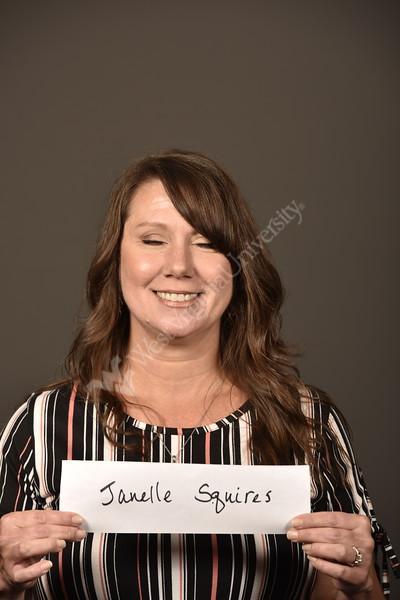 Squires, Janelle poses for Staff council Portrait August 21, 2019. Photo Greg Ellis