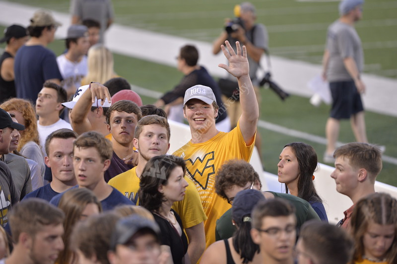 Freshmen enjoy their time on the field during Monday Night Lights on August 19, 2019. Photo Parker Sheppard