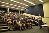 The newest members of WVU's Statler College of Engineering attended Acadmic Day, where professors introduced themselves and shared their hopes and expectations. The Staler Academic Day was held in the Engineering Research Building on August 20, 2019.