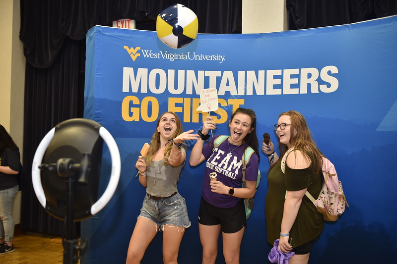 Freshmen of the class of 2023 enjoy their time at the Eberly Academic Day on August 20, 2019 in the Mountainlair Ballroom. Photo Parker Sheppard
