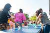 Students grab bottles of water to stay hydrated during Food Fest on August 20, 2019. Photo Parker Sheppard