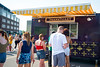 Students wait in line for the Franktuary food truck at Food Fest on August 20, 2019. Photo Parker Sheppard