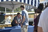 Students enoy free food at Food Fest outside of the Student Rec Center on August 20, 2019. Photo Parker Sheppard