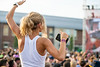 Female student dances at Fall Fest on August 20, 2019. Photo Parker Sheppard