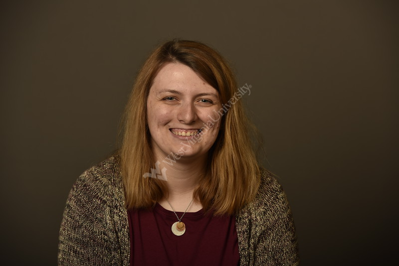 Erin Fields Graduate Assistant WVU  Enrollment Management poses for a portrait at the 1 Waterfron studio August 23, 2019. Photo Greg Ellis