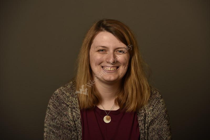 Erin Fields Graduate Assistant WVU  Enrollment Management poses for a portrait at the 1 Waterfron studio August 23, 2019. Photo Greg Ellis