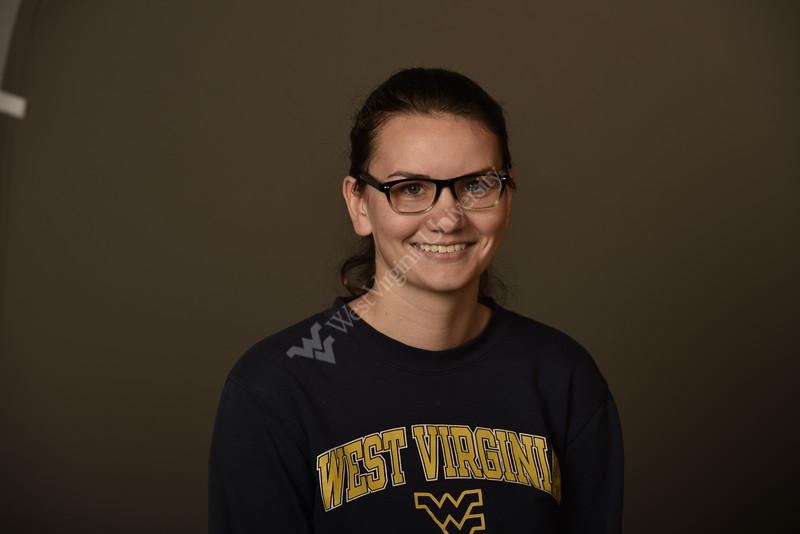 Emily Seggie WVU Enrollment Managemen poses for a portrait at the 1 Waterfront studio August 23, 2019. Photo Greg Ellis
