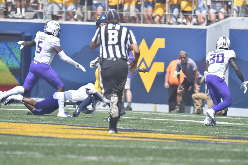 The Mountaineer Football Team plays James Madison University on Mountaineer Field August 31st, 2019.  (WVU Photo/Brian Persinger)