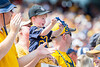 A young fan cheered on the Mountaineers as they faced off against James Madison on August 31, 2019. (WVU Photo/Parker Sheppard)