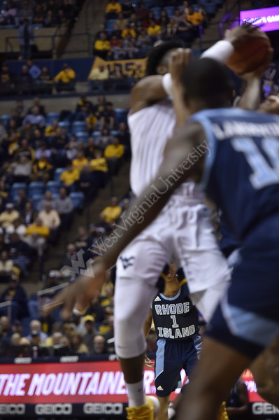 The WVU Men's Basketball team took on Rhode Island at the Coliseum December 1, 2019. (WVU Photo/Parker Sheppard)