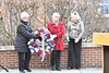 Members of the military active; retired and the WVU community come together at the Mast Head of the USN Battleship West Virginia on the WVU campus to remember the attack on Peral Harbor December 6; 2019. (WVU Photo/Greg Ellis)