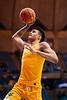 Jalen Bridges jumps for a dunk. WVU Men's Basketball took on Austin Peay on December 12, 2019 in the Coliseum. (WVU Photo/Parker Sheppard)