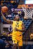 Oscar Tshiebwe jumps for dunk. WVU Men's Basketball took on Austin Peay on December 12, 2019 in the Coliseum. (WVU Photo/Parker Sheppard)