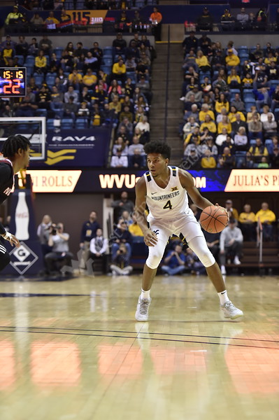 WVU Men's Basketball took on Nicholls on December 14, 2019 in the Coliseum. (WVU Photo/Parker Sheppard)
