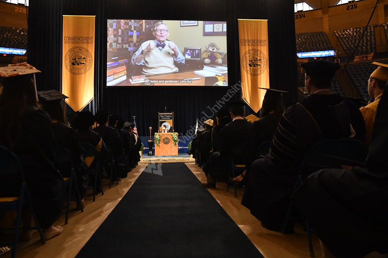 WVU Students, faculty families and the WVU community come together for the WVU December Commencement December 21, 2019. (WVU Photo/Greg Ellis)