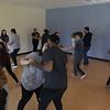 36321 Stephanie Lorenze<br /> Stephanie Lorenze teaches a dance education class.<br /> WVU Photo/ Raymond Thompson<br /> WVU Magazine Sparked Podcast