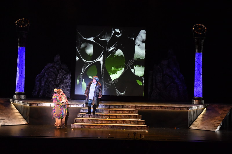 The Department of Theatre hosts the Magic Flute in the Clay Center of the CAC February 1st, 2019.  Photo Brian Persinger