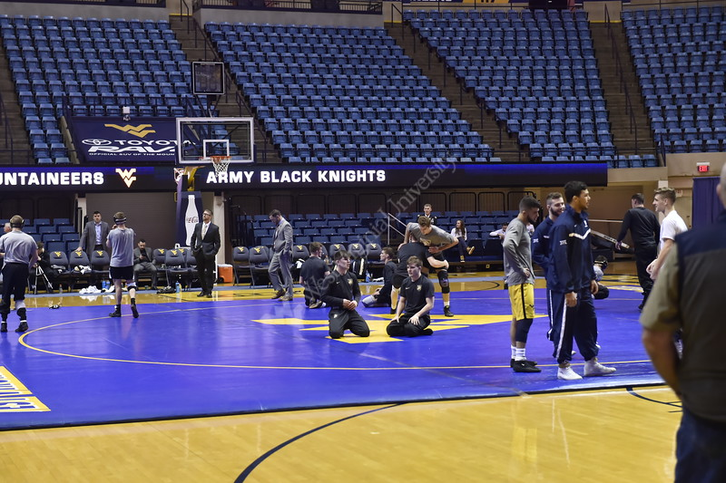 WVU Wrestling had a match against Army on February 1, 2019.