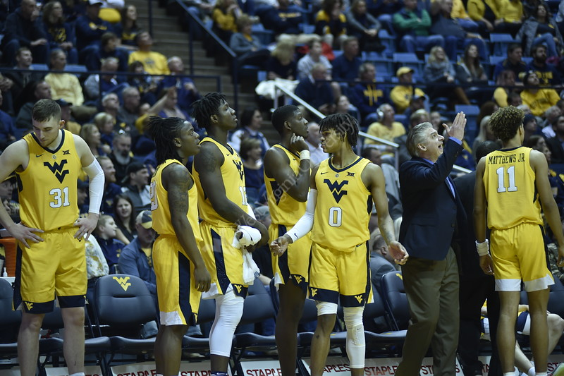 WVU Men's Basketball plays against Oklahoma University on February 2, 2019. The successful game was held at the WVU Coliseum.