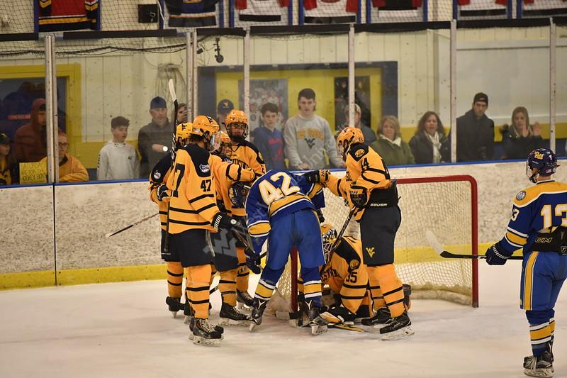 D1 Hockey played Pitt in the Backyard Brawl in Morgantown WV on Feb 9, 2019.