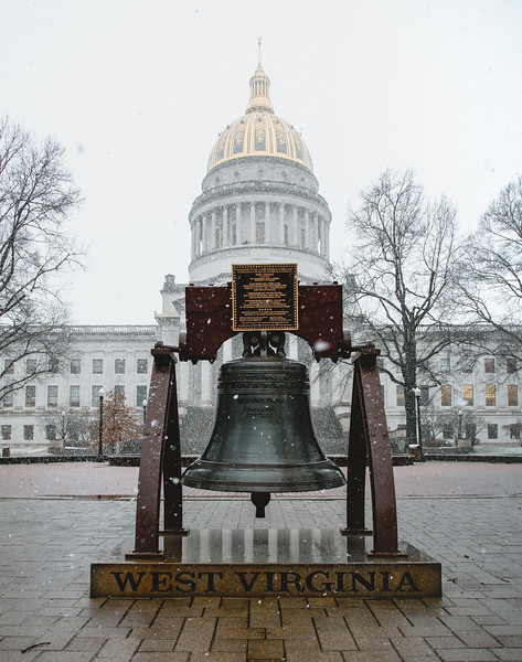 The Capitol building on a snowy January morning.