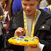 Students enjoyed getting some WVU swag including a flying WV badge.