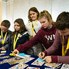 Future Mountaineers share their dreams and ambitions by decorating notes for the Dream Big wall.
