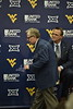 WVU Head Football Coach Neal Brown addresses Mountaineer Nation at his first press conference on January 10, 2019.