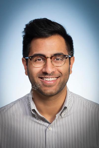 Sardar M Shahkhan Department of Internal Medicine poses for a portrait at the HSC studio July 9, 2019. Photo Greg Ellis.