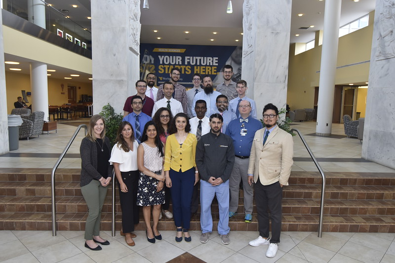 Members of the Radiology department pose for photographs at the Health Sciences Center July 16th, 2019.  Photo Brian Persinger