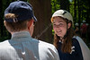 President Gee chats to an incoming WVU student at an Adventure WV camp on Monday, July 15, 2019.